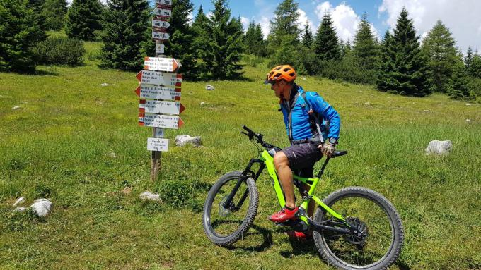 La montagna d'estate: mountainbike